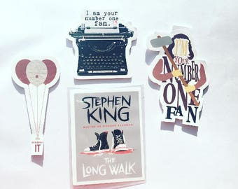 Stephen King bookmarks / Misery bookmarks / IT Bookmark / Pennywise bookmark / Book cover / Magnetic bookmark / Laminated bookmark / Bookish