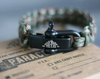 Cobra Stitch Camouflage Green - Original Yet.is Paracord Bracelet