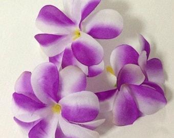 Artificial flowers fabric Plumeria-purple 100 pcs.