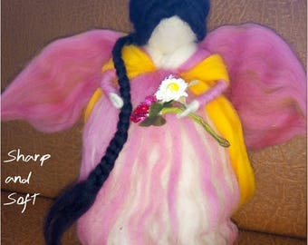 Needle felt DOLL fairy angel