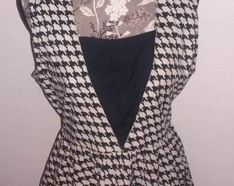 Hounds Tooth print summer dress        size XL