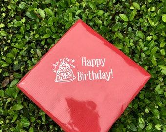 Happy Birthday Beverage Napkins (quantity 20)