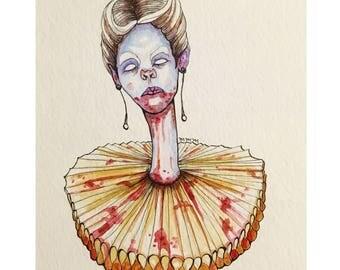 The Countess Watercolor