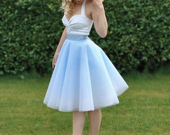 Princess inspired ombre tulle skirt with swarovski crystal embellishment and lace up back, in the style 'Once Upon A Time'