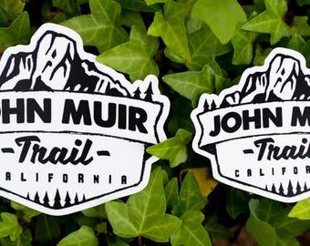 John Muir Trail Vinyl Sticker