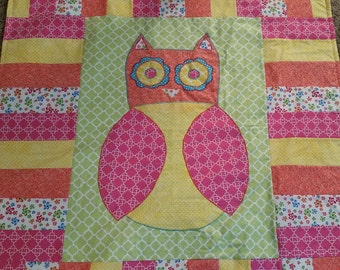 Owl themed quilt
