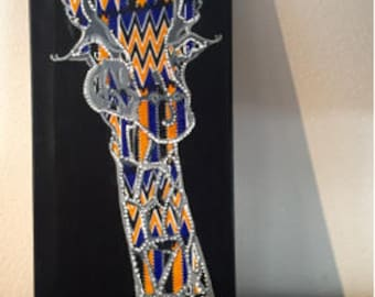 Kente Giraffe Canvas