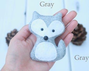 Felt Fox Ornament Cute Fox Nursery Decor Fox Christmas Ornament