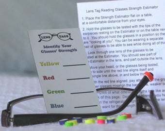 Peeper Bands.  Colored Eyeglass Identifiers