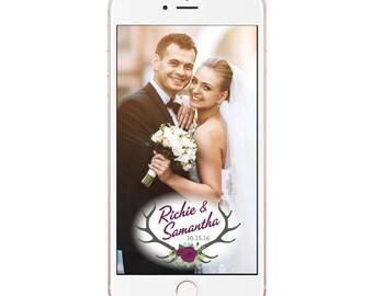 Rustic Wedding Snapchat Filter -  Custom Made