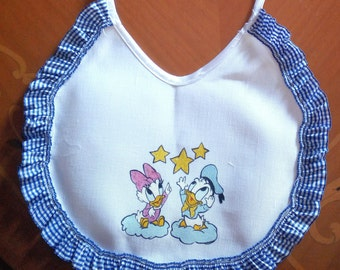 Handcrafted, hand-painted on Linen Purp bibs