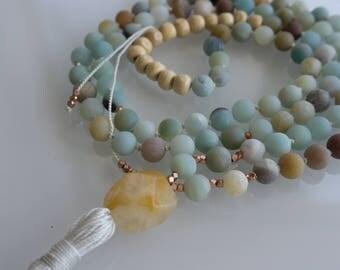 Catalina Coast Mala Tassel Necklace