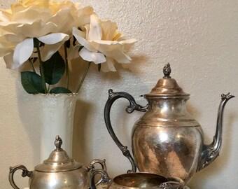 Perfect Patina - WM Rogers Antique Silver Tea Set