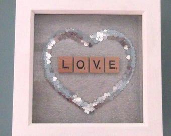 Scrabble 'LOVE' Art