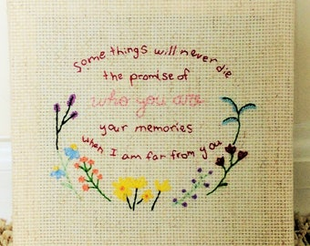 Wildflower Quote -- Made to Order