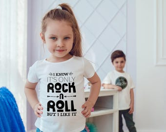 Rock n Roll Kids Shirts Rock Kids tshirt Toddler Shirt Gift For Kids Rock Shirts Kids Shirt Kid T-Shirt Boys Top Girls Top Rock Kids Clothes