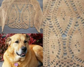 Custom made shawl from your pet's fur - Dog, Cat, Rabbit