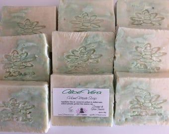 ALOE VERA SOAP-Natural handmade soap-Aloe Vera Gel-face-Body