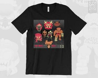 DOOM T-SHIRT Hell on Mars // Cyber Demon Doom Guy Marine // PC Gaming // Mens & Womens Sizes // Gamer Gifts