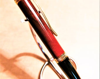 Hawaiian Milo Wood Pen - Executive Exotics - Custom Hand Turned Exotic Wooden Ballpoint Twist Pen