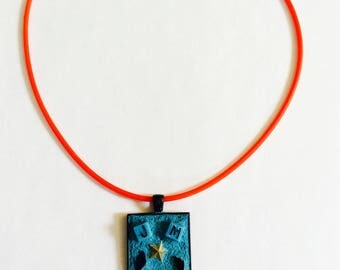 Mosaic Pendant Necklace