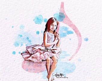 Music Fashion Print (MischkaAoki Fashion Illustration) (AnnaPavaga Fashion Illustration)