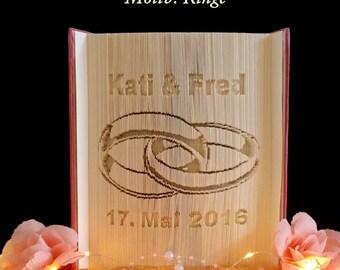 Folded book, wedding present,