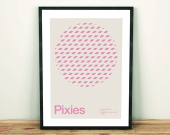 Pixies Remixed Gig Poster, Art Print, Music Poster