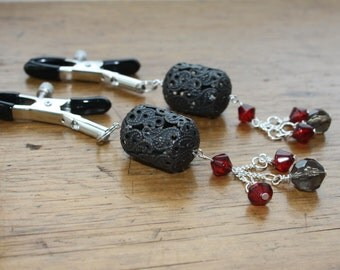 Bejewelled nipple clamps