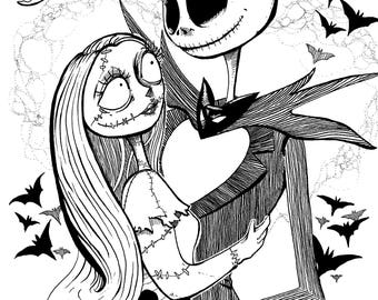 Jack and Sally - Meant to be  A5 Print