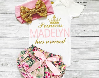 Baby Girl Coming Home Outfit Summer Newborn Girl Take Home Outfit Summer Baby Girl Outfit Personalized Newborn Outfit Newborn Baby Girl