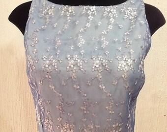 Crop top celeste/Sky blue cropped tank blouse