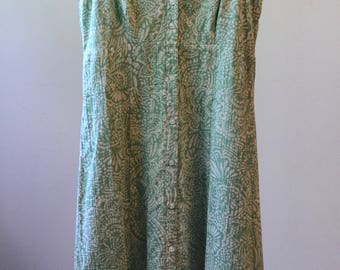 PRICE REDUCED! Green and Ivory Eddie Bauer Perfect Midi Sundress Size 2