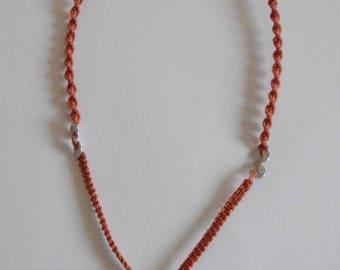 Necklace spiral macrame