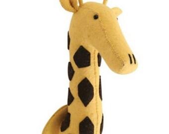 Felted Wool Stuffed Giraffe Head