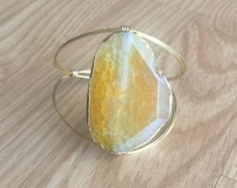 BIG Yellow Stone Bracelet