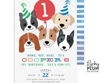 Dog Birthday Invitation / Puppy Party Invitation / Puppy Birthday Invitation / Puppy Dog Birthday Invitation / *Digital Invite DG01