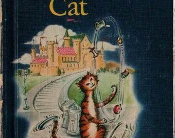 The Secret Cat An Easy Reader Wonder Book - Tamara Kitt - William Russell - 1961 - Vintage Kids Book