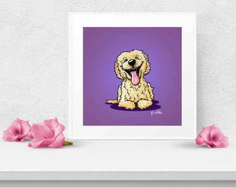 Choice of KiniArt Doodle Dog Art PRINT Signed Reproduction