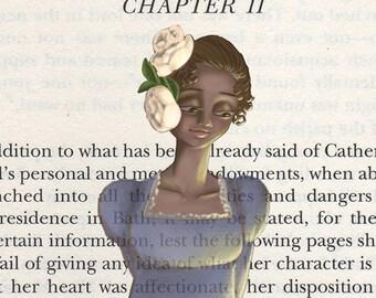 Northanger Abbey - Jane Austen - Catherine Morland - 5 x 7 print