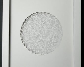 Abstract Paper Cut Circle
