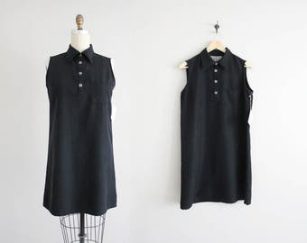 black collared dress | matte silk dress | silk shirt dress