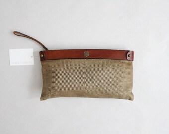 leather & wool clutch | John Romain purse | wristlet clutch purse