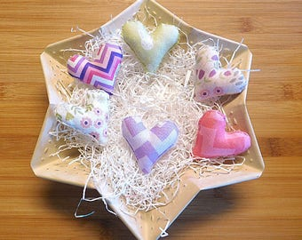 Spring Hearts Ornaments Holiday Bowl Fillers Easter Decorations