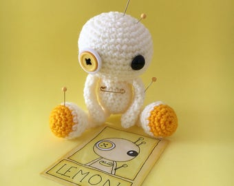 Lemon the Amigurumi Lemon Voodoo Doll