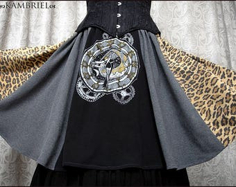 One of a Kind Revamped Dresden Dolls Skirt by Kambriel - Made with Vintage Fabrics - Brand New & Ready to Ship!