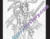 Single Coloring Page - Survivor from the Magical Beauties Collection - Download, Print & Color!