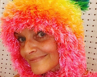rainbow furry festival snowboard tedhead hat