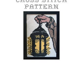 DIY Hermit's Lantern - .pdf Original Cross Stitch Pattern - Instant Download