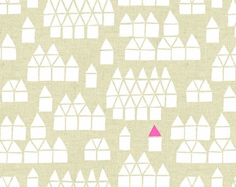 Maker Maker Village Neutral Linen Cotton Fabric